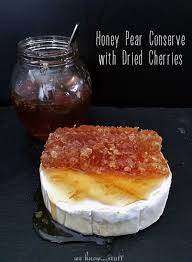 honeycomb edible honey pear conserve with dried cherries we stuff