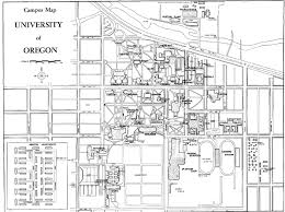 Campus Map Oregon State by University Of Oregon Campus Maps Architecture Of The University