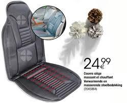 siege massant voiture cora promotion couvre siège massant et chauffant verwarmende en