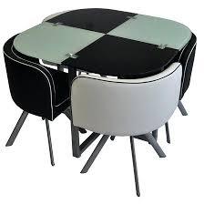 table avec chaise encastrable table avec chaise encastrable table a manger complate louss et