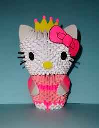cara membuat origami hello kitty 3d 3d origami kitty choice image coloring pages adult
