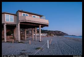 picture photo beach house with high stilts stinson beach