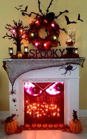 halloween lights halloween decorations the home depot halloween decorations face in the fireplace with spiders and lit