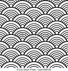 japanese pattern black and white black white traditional wave japanese chinese seigaiha eps