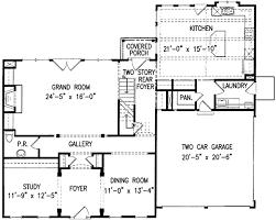 center colonial floor plan center home plan 15718ge architectural designs
