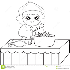 cooking coloring page stock illustration image 52718607