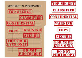 top secret report template top secret confidential st vectors free vector