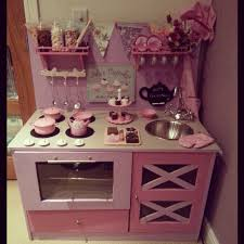 Toy Kitchen Set Wooden Play Kitchen Diy Kitchen Toy Kitchen Girlie Pink Lilac Fun For