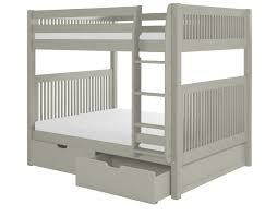 Camaflexi Full Over Full Bunk Bed With Drawers Mission Headboard - Full over full bunk bed