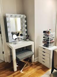 broadway lighted vanity makeup desk vanity makeup organization storage