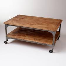 coffee table build a factory cart coffee table hgtv casters wheels