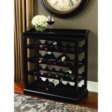Kitchen Wine Cabinet by Rectangular Espresso Varnished Wooden Wine Cabinet Ideas Come With