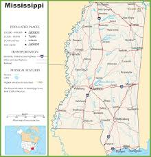 Ms Map Popular 261 List Mississippi State Map