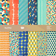 retro digital paper pack mid century scrapbook pages