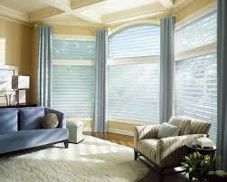 cream patterned bay window treatments kitchen with sliding windows