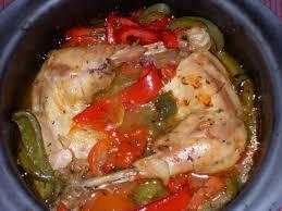 cuisiner cuisse de poulet recette de cuisses de poulet aux poivrons la recette facile