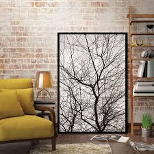 nordic trees winter abstract wall pictures for living room art