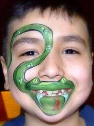 a cute and whimsical elf face painting thats great for both boys