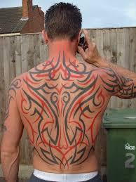 tribal back by skin vs ink on deviantart