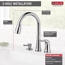 delta single handle kitchen faucets delta kate pull single handle kitchen faucet with