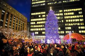 chicago christmas tree shifts to millennium park chicago tribune