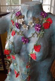 85 best crochet flowers necklaces images on pinterest crochet