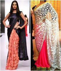 half and half sarees u2013 5 most demanding concept g3fashion com
