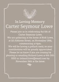 32 best funeral reception invitations images on