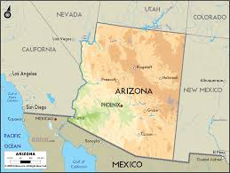 Colorado River On A Map by Arizona On A Map Arizona Map