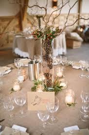 Calmly Rustic Purple Wedding Table Centerpiece Purple Wedding
