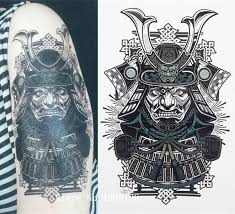 wholesale classical japanese samurai warrior tattoo 21 x 15 cm