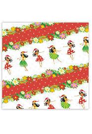 Amazon Gift Wrap Paper - amazon com holiday hula honeys hawaiian christmas red gift wrap
