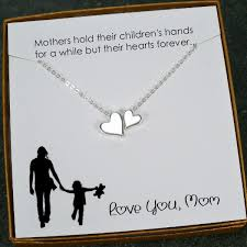 christmas gifts for mom mom necklace gift mother s day birthday heart bead charm necklace