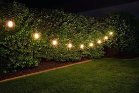 Commercial Outdoor String Lights String Garden Lights Waterproof Solar Powered Silver Led