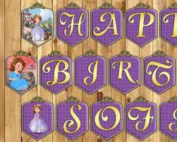 sofia the birthday sofia the birthday banner princess by instbirthday on zibbet