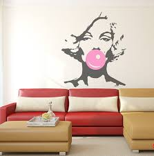 Beautiful Wall Stickers For Room Interior Design Marilyn Monroe Bubble Gum Beauty Hair Salon Wall Decal Sticker