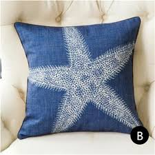 Starfish Cushion Blue Starfish Home Goods Throw Pillows For Couch Coral Sofa