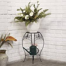 Decorative Metal Trivets Amagabeli Two Tiers Metal Potted Plant Stand 20 Inch Rustproof