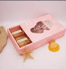 cookie box favors online shop pink heart push cake boxes paper cookie box with clear