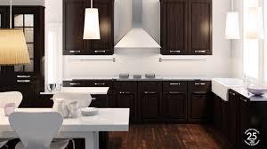 Kitchen Ideas Black Cabinets by White Cabinets Dark Flooring Kitchen Attractive Personalised Home