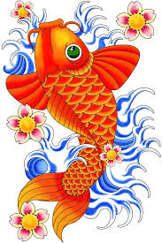 koi fish clipart coy fish pencil and in color koi fish clipart