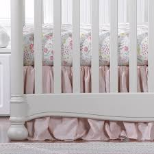 liz u0026 roo petal pink linens bumperless crib bedding set kids n cribs