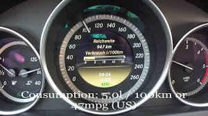 2012 mercedes benz c220 cdi fuel consumption test youtube