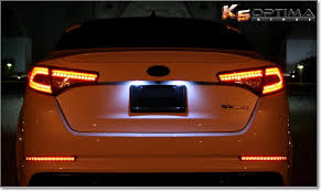 2013 kia optima led fog light bulb k5 optima store 2011 2013 kia optima rear led bumper lights