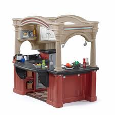 Pretend Kitchen Furniture by Grand Walk In Kitchen With Extra Play Food Set Kids Toy Combo
