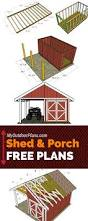 free shed with porch plans step by step instructions for you to