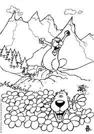 Coloriage Marmotte Montagne Coloriages Les Marmottes Fr Hellokids
