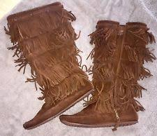womens fringe boots size 11 size 11 boots minnetonka for ebay