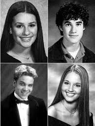 yearbook from high school glee s high school yearbook photos instyle