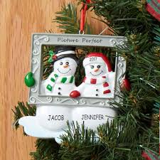 personalized mr and mrs snowman couples ornament dibsies